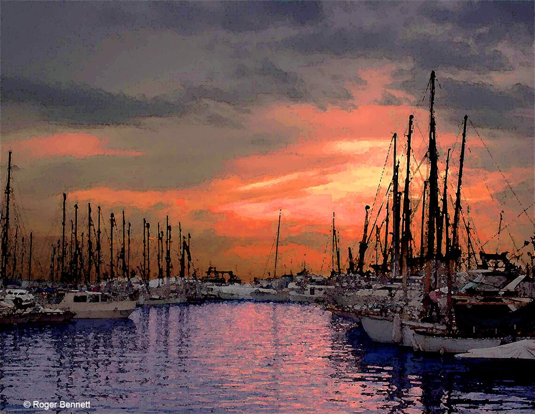 Marina Sunset, Cannes, France