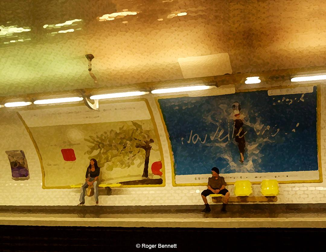 Metro Station, Paris, France