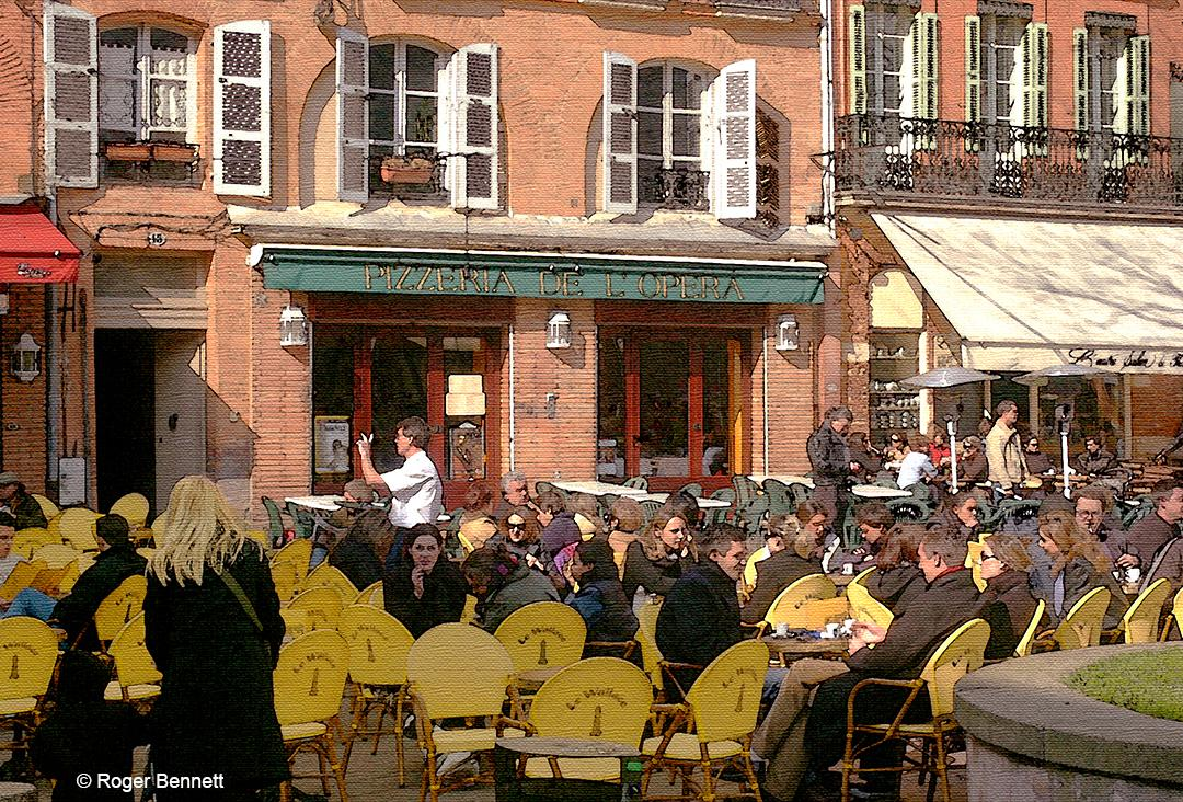 Outdoor Pizzaria, Toulouse, France